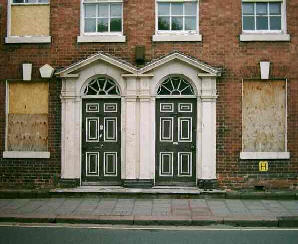 Twin doors and windows in a Georgian house
