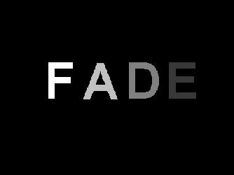 "The word ""FADE"" each letter dimmer than the previous one."